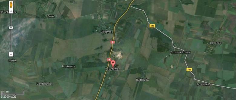 Wypadek na krajowej ósemce za Kobierzycami. Cztery osoby ranne