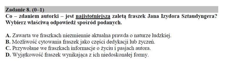 Egzamin gimnazjalny 2019. JĘZYK POLSKI część humanistyczna. Odpowiedzi i arkusz pytań CKE w serwisie EDUKACJA