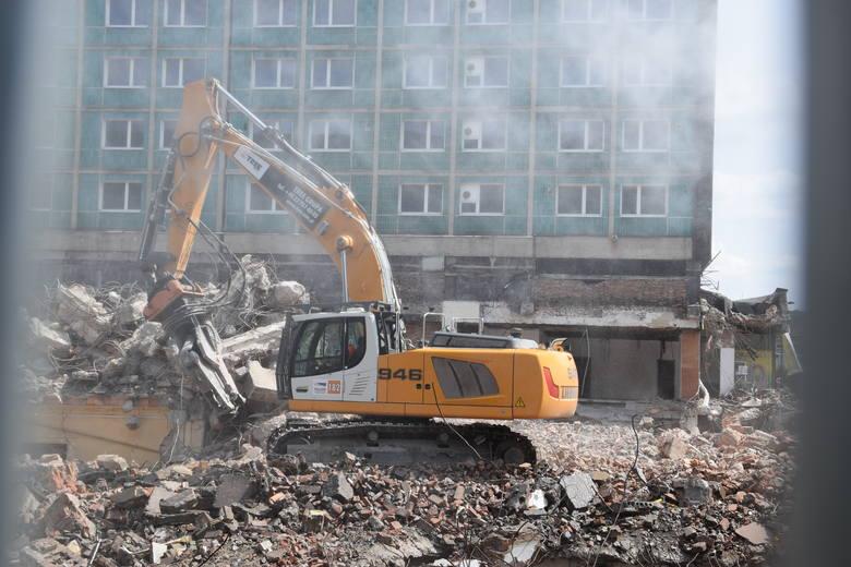 Rozbiórka dawnego hotelu Silesia w Katowicach