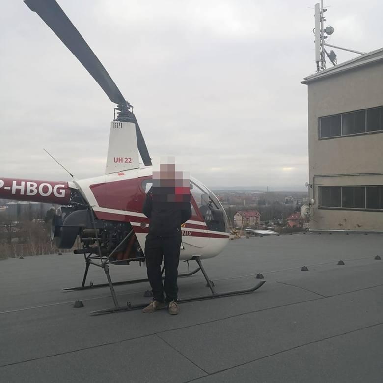 Katastrofa lotnicza w Strzegomiu na Dolnym Śląsku. Rozbił się helikopter. Nie żyją dwie osoby