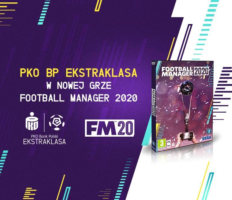 Premiera gry Football Manager 2020 z PKO Bank Polski Ekstraklasą