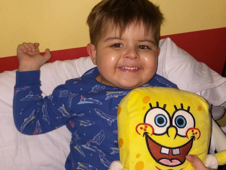 Miłosz Belcik ma 3 lata i mieszka w niewielkiej miejscowości Zboiska na Podkarpaciu