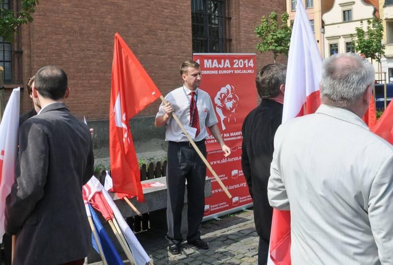 Pochód 1 majowy w Toruniu