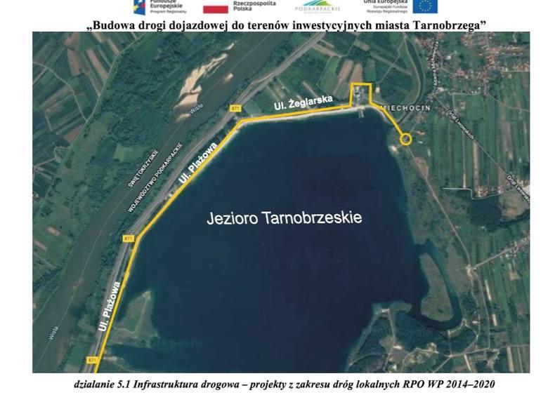 Ponad 8 milionów na rozbudowę dróg nad Jeziorem Tarnobrzeskim. Dużo się zmieni (MAPA)
