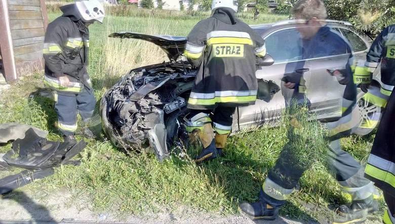 W czwartek około godz.16.40 strażacy z OSP Brańsk zostali skierowani do miejscowości Olszewo, gdzie doszło do wypadku drogowego.