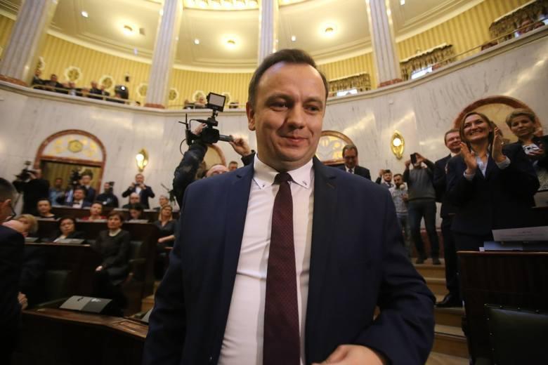Marszałek Jakub Chełstowski wziął udział w ogłoszeniu województwa śląskiego Europejskim Regionem Przedsiębiorczości. Sesja odbyła się online (Zdjęcie