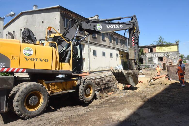 Rewitalizacja terenów pofabrycznych w Nowej Soli. Stan prac koniec maja /początek czerwca 2020 r.