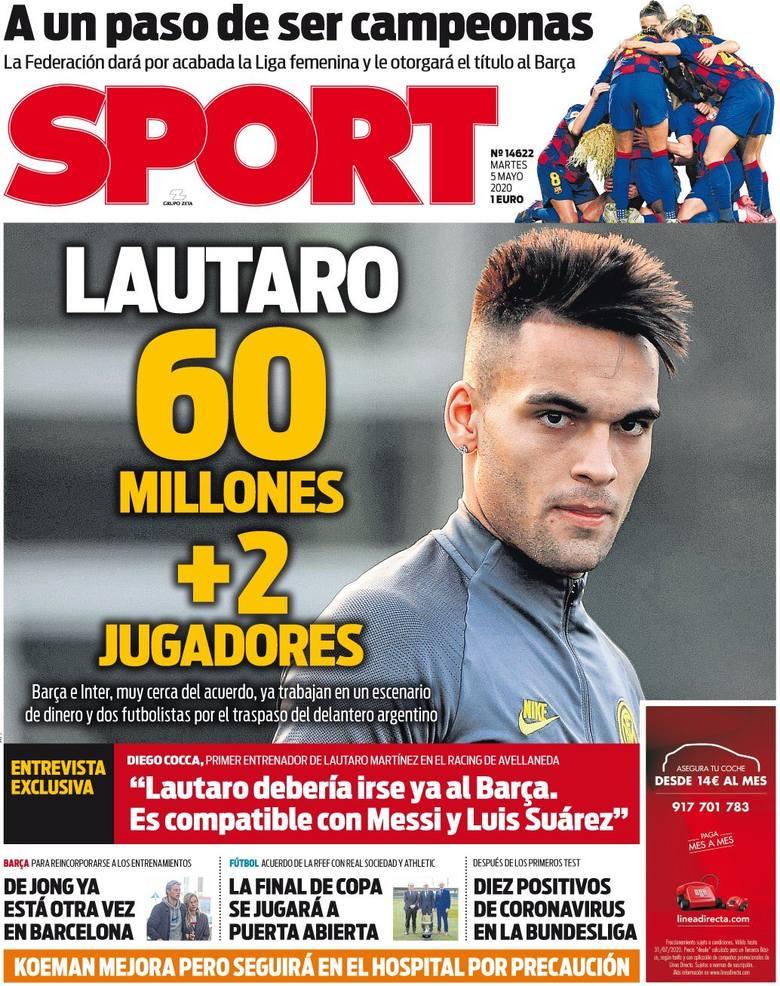 """Okładka hiszpańskiego """"Sportu"""""""