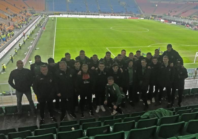 Radomiak Radom na stadionie w Mediolanie.