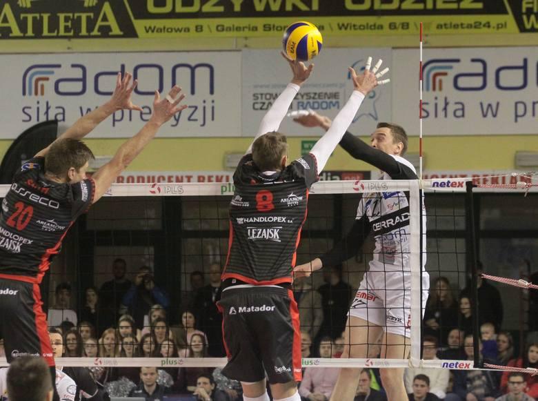 Fragment meczu Cerrad Czarni Radom - Asseco Resovia Rzeszów.