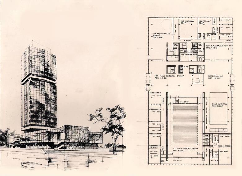 Koncepcja opracowana przez Pracownię Urbanistyczną Miasta Krakowa w 1970 r. narzucająca podwyższenie wieżowca NOT przy rondzie Mogilskim o 8 kondygnacji