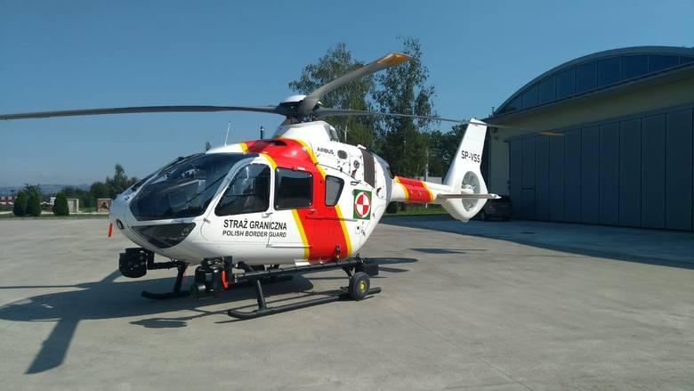 Śmigłowiec Airbus EC135 P3H Straży Granicznej.