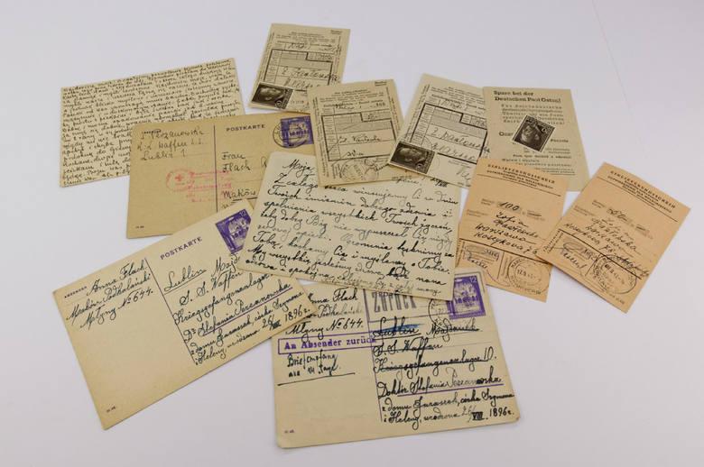 Oficjalna korespondencja z niemieckiego, nazistowskiego obozu na Majdanku.