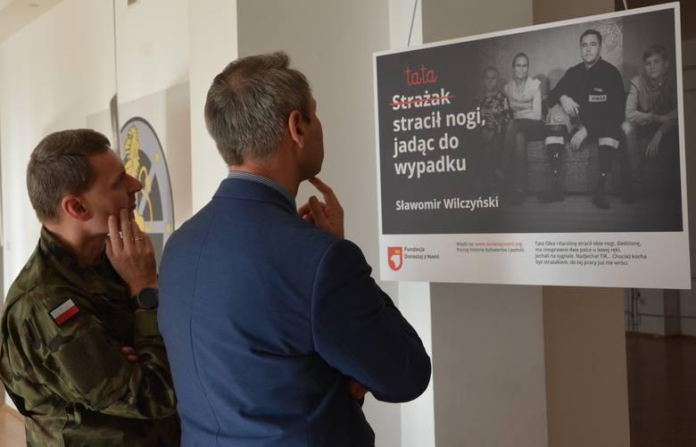 Wystawa ,,Dla Ciebie zginął żołnierz, strażak, policjant, a dla mnie tata'' - Sulechów - listopad 2019.