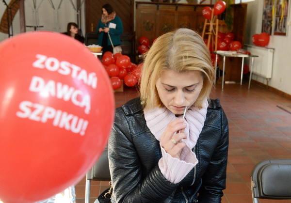 Rejestracja dawców szpiku na Zamku w Krośnie Odrzańskim. Weronika Fudalin