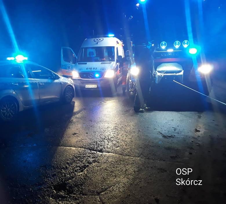 Wypadek śmiertelny pod Chojnicami, potrącenia w Gdyni, pod Starogardem Gdańskim i Słupskiem.  Seria wypadków na Pomorzu 23.02. - 24.02.2020