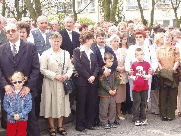 Na dobrzyński rynek przyszło wielu  mieszkańców Golubia-Dobrzynia.
