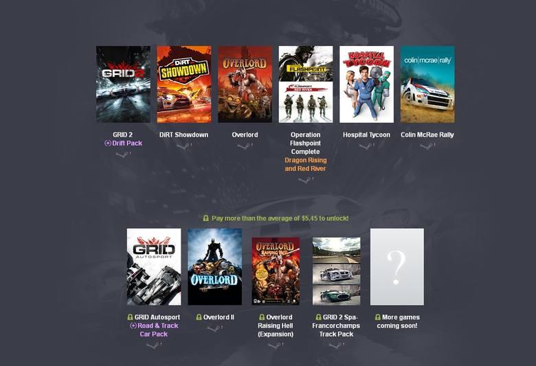 Humble BundleNowy zestaw Humble Bundle zawiera gry studia Codemasters