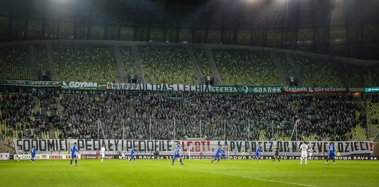 Transparent na stadionie w Gdańsku