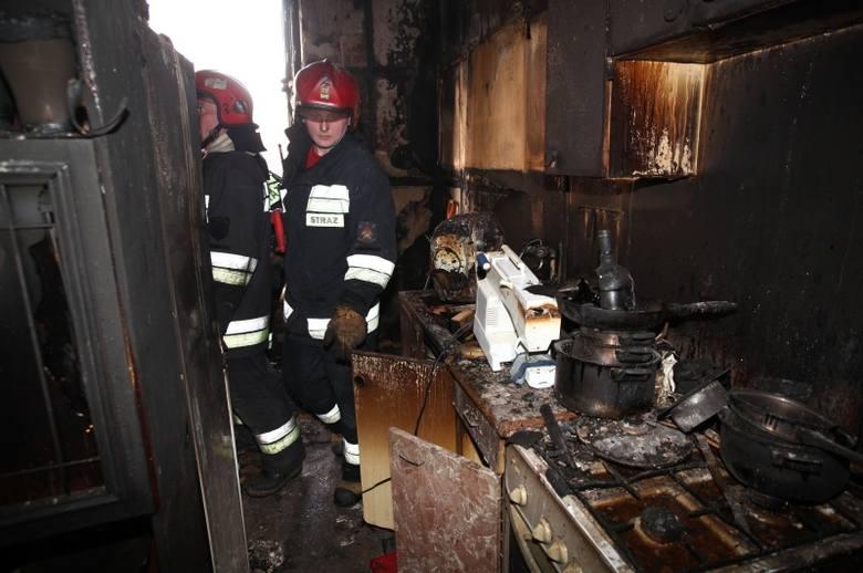 Pożar mieszkania na ul. Powstańców Wielkopolskich [zdjęcia]
