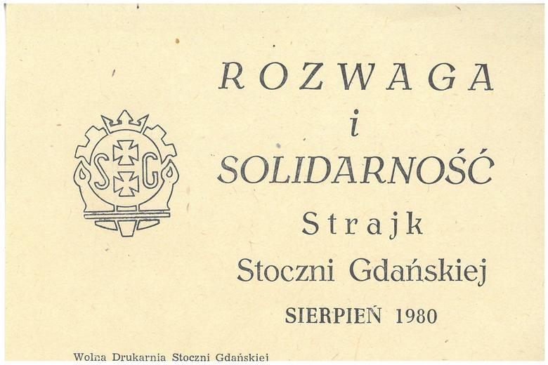 Ulotka ze strajku w Stoczni Gdańskiej, sierpień 1980 r. AIPN Wr, dar Edwarda Sobczaka