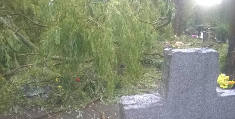 Cmentarz w Gorzowie po ulewie