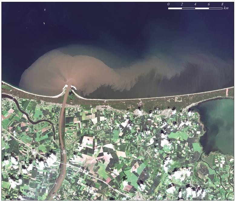 2 czerwca 2019. Fala powodziowa uchodząca do Bałtyku