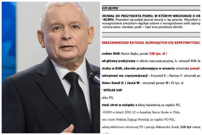 Aktualne przekazy dnia PiS: Wiemy, co będą mówić posłowie o stanie zdrowia Kaczyńskiego i cenach paliw. Dotarliśmy do partyjnej ściągawki