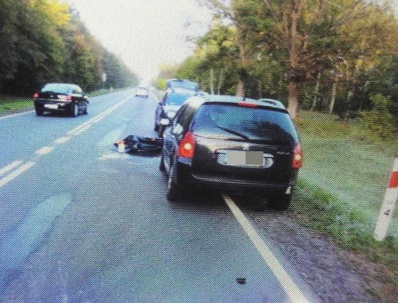 Rydzewo: Dwa samochody zderzyły się z dzikiem. Trzeci przejechał leżące na jezdni zwierzę [ZDJĘCIA]