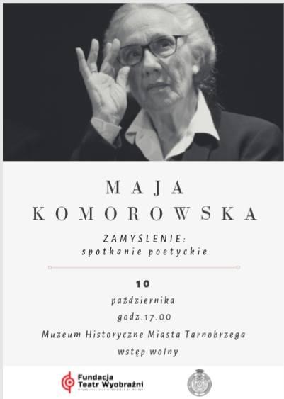 Spotkanie poetyckie z Mają Komorowską. Znana aktorka przyjedzie w czwartek do Tarnobrzega
