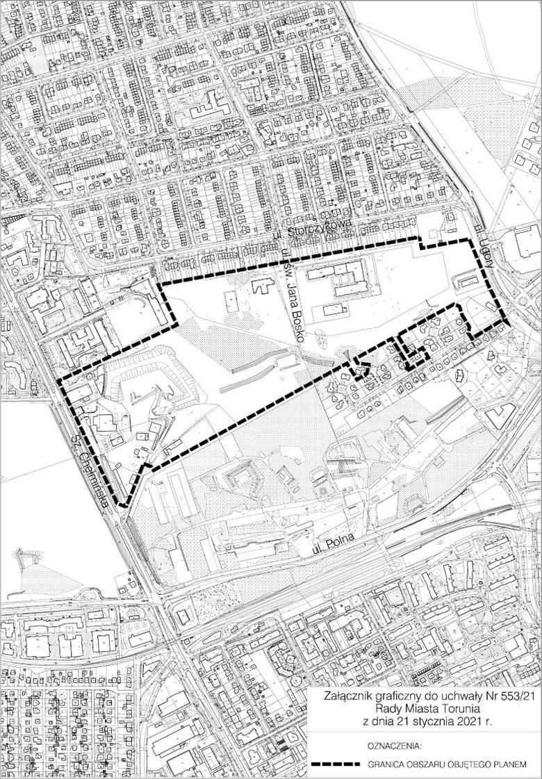Teren, którego ma dotyczyć przygotowywany plan zagospodarowania przestrzennego