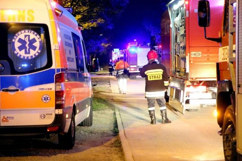 Pożar w Kamieńcu Wrocławskim. Ulatniał się gaz ze skrzynki, która się zapaliła