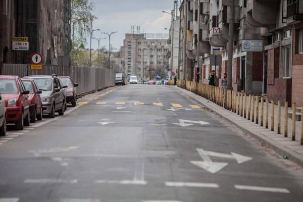 Wkrótce ul. Składowa zostanie zawężona do jednego pasa ruchu.