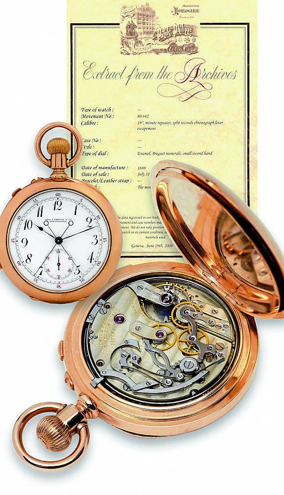 Produkowany od 1933 r. tzw. zegarek oficerski Patek & Philippe.