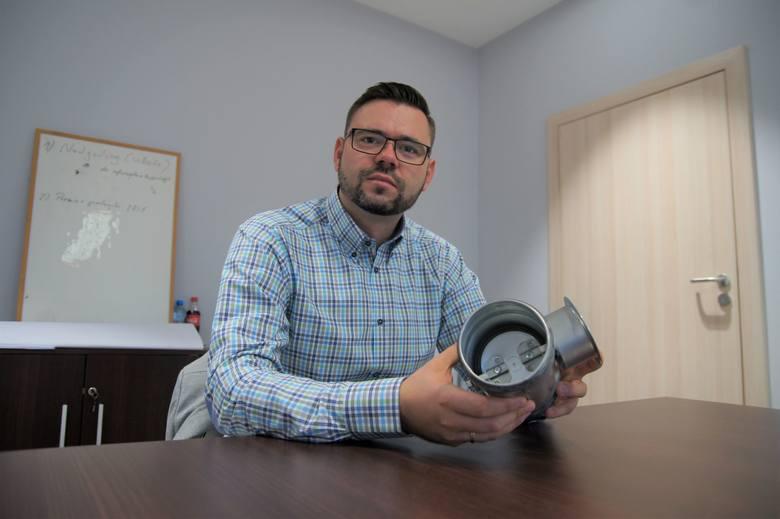 Dominik Jaskulski dyrektor - prokurent firmy Nowavent w Nowej Soli