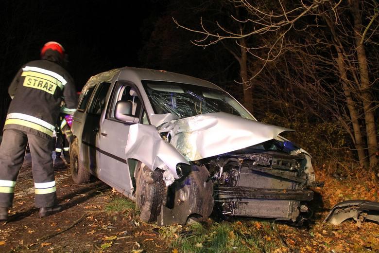 Do wypadku doszło w sobotę po godz. 22.30 na drodze krajowej nr 94. VW caddy - kierowany przez 41-letniego mężczyznę - jechał ze Strzelec Opolskich w