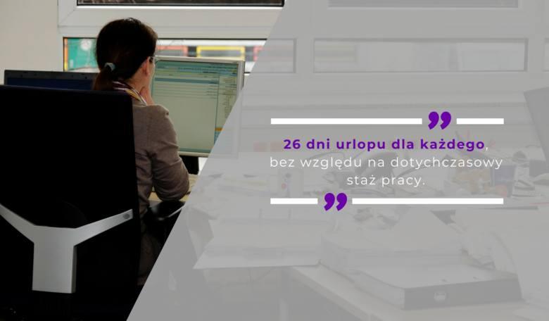 26 dni urlopu dla każdego, bez względu na dotychczasowy staż pracy - taki był pomysł zmiany urlopów w Kodeksie Pracy.