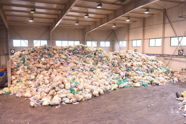 Teren wysypiska śmieci w Zielonej Górze