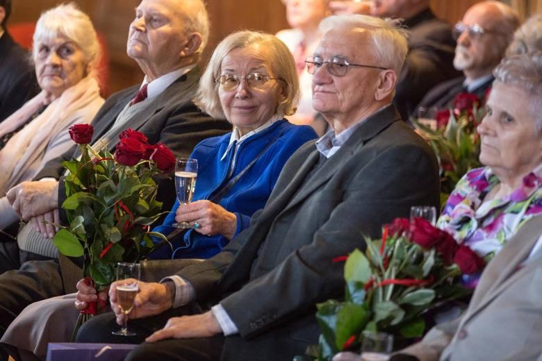 Jubileusz par małżeńskich w gdańskim Ratuszu Staromiejskim, 14 lutego 2018 r.