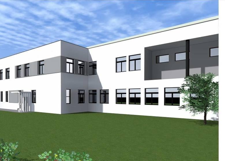 Tak ma wyglądać nowy budynek. Znajdą się tam blok operacyjny z oddziałem chirurgii. Wizualizację przygotowało Studio A Pracownia Projektowa