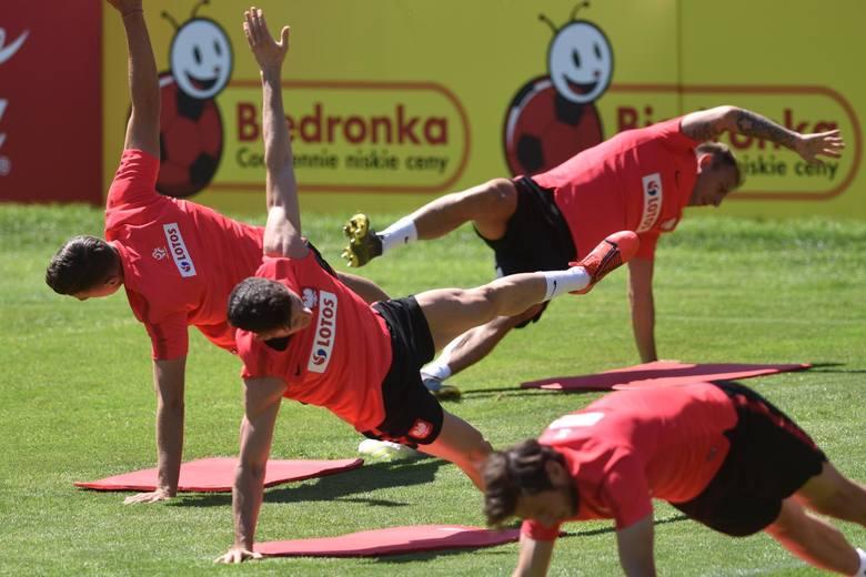 Na zdjęciu: trening reprezentacji Polski. Mecz Macedonia - Polska odbędzie się w ramach eliminacji Euro 2020. Kiedy mecz? Typy, kursy. Transmisja TV