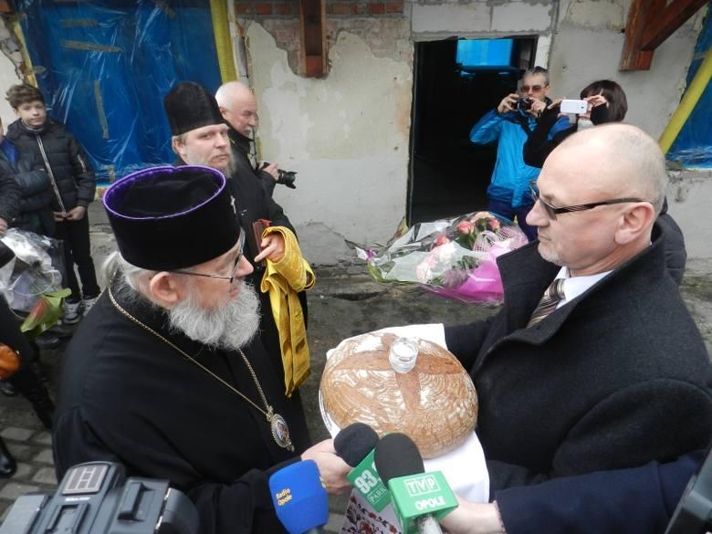 Poświęcenie krzyży w pierwszej cerkwi na Opolszczyźnie