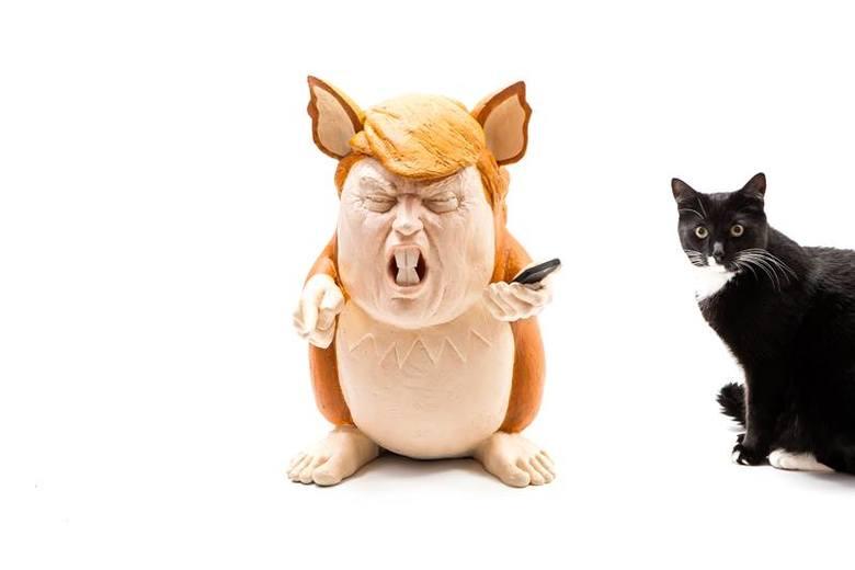 Trump w skórze Pokemona. Nowy projekt szczecińskiej artystki