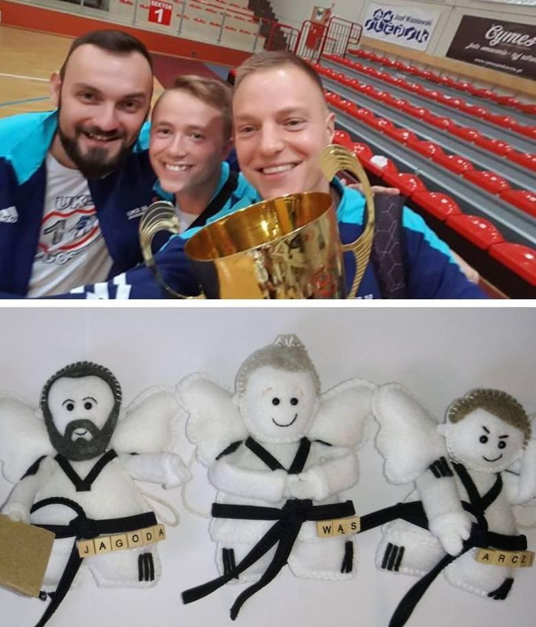 Trenerzy UKS 10 Taekwondo Bydgoszcz (od lewej): Grzegorz Jagodziński, Sławomir Wąs, Arkadiusz Nowakowski.