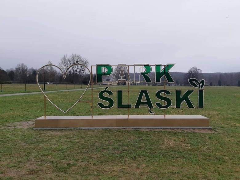 Ktoś zniszczył świetlny napis w Parku Śląskim.Zobacz kolejne zdjęcia. Przesuwaj zdjęcia w prawo - naciśnij strzałkę lub przycisk NASTĘPNE