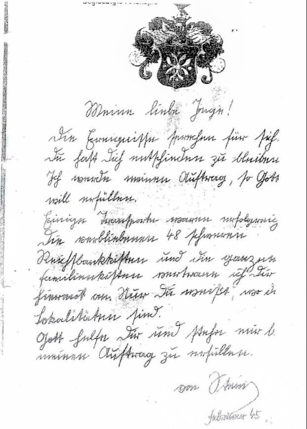List von Steina do pięknej Inge