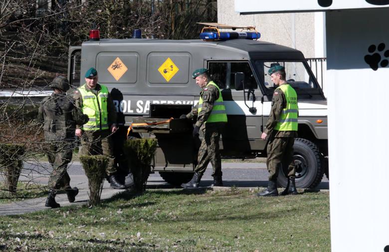 Ewakuacja bloku na osiedlu Pomorskim w Zielonej Górze