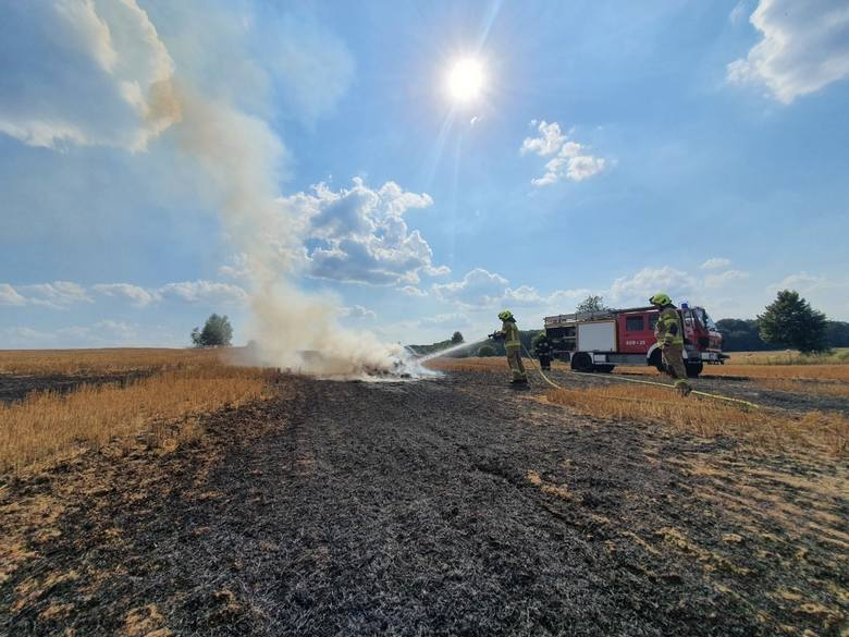 Pożar ścierniska koło Czaplinka