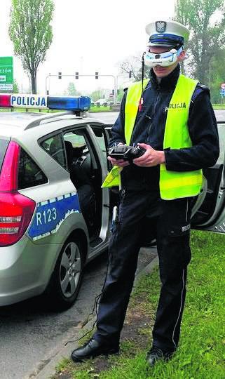 Ogromnym zainteresowaniem cieszyły się ostatnie testy drona, w których brali udział również policjanci ze śląskiej drogówki
