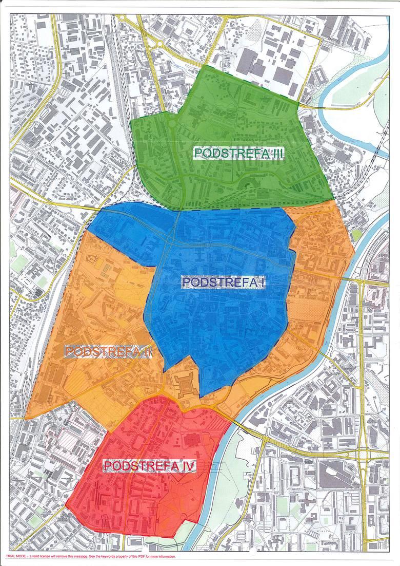 Tak będzie wyglądać nowy podział strefy płatnego parkowania w Rzeszowie.